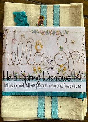 Bareroots #252 Hello Spring Dishtowel Kit
