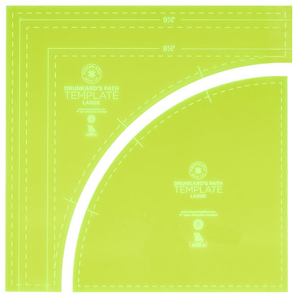 Drunkard's Path Circle Large Template - 10""