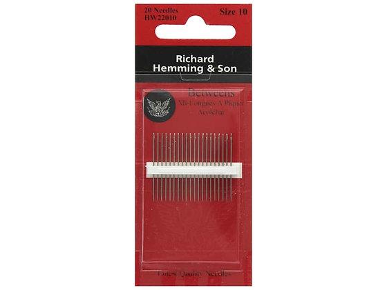 Richard Hemming Quilting/Betweens Needles Size 10
