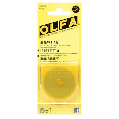 Olfa 45mm Rotary Blades - 1 pack