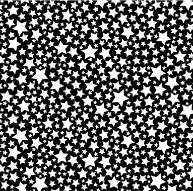 Super Fred Starlettes Black (Glow In The Dark) - 1/2 meter