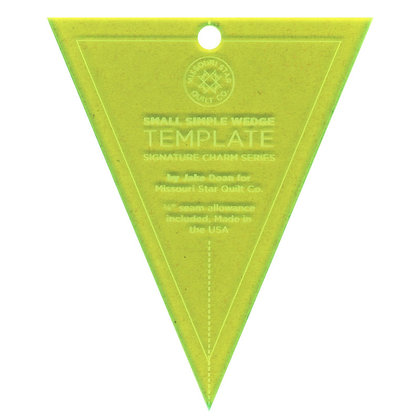 """Simple Wedge Small Template - 5"""""""