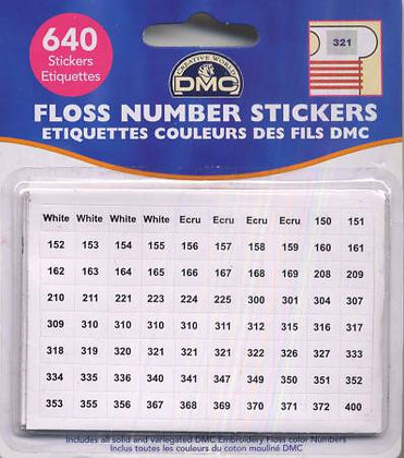 Floss Number Stickers Pack