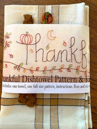 Bareroots #261 Thankful Dishtowel Kit