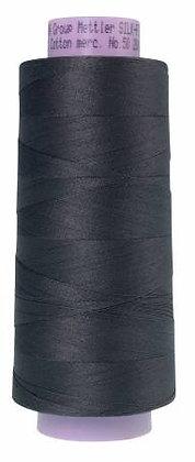 Mettler 100% Cotton Thread (50 wt) - Dark Charcoal #0416