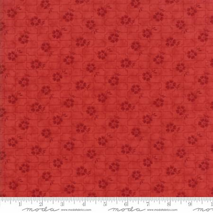 Farmhouse Reds - Floral Grid (Tonal Red) - 1/2 meter