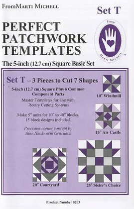 Set T - Perfect Patchwork Templates - Marti Michell