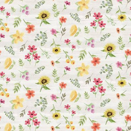 Homestead Life - Flowers Cream - 1/2 meter