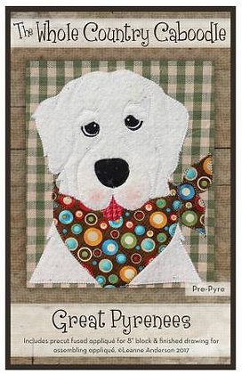Great Pyrenees - Precut Fused Applique Pack