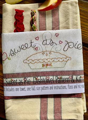 Bareroots #259 Sweet As Pie Dishtowel Kit