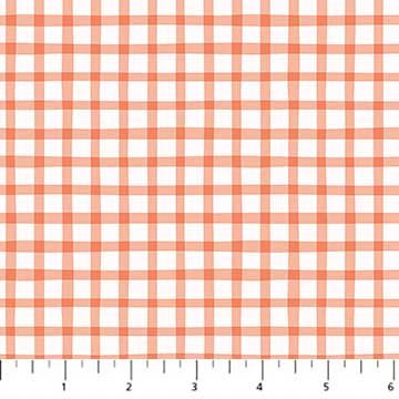 A Life in Pattern - Gingham - Coral - 1/2 meter