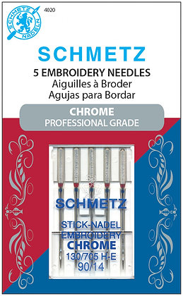 Schmetz Embroidery Chrome Needles #90/14