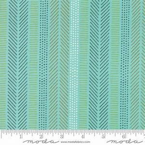 Safari Life - Stripes Aqua - 1/2 meter