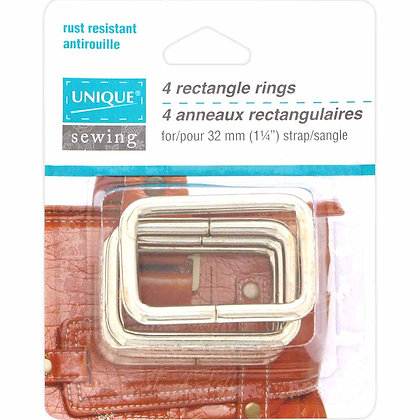 Rectangle Rings - 1-1/4""