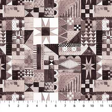 Cozy Up - Patchwork Brown - 1/2 meter