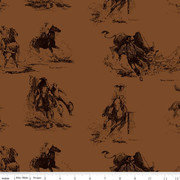Back of the Chutes - Cowboy Sienna - 1/2 meter