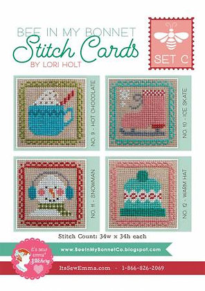 Bee In My Bonnet Stitch Cards - Set C