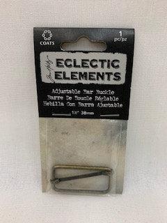 "Tim Holtz Eclectic Elements Adjustable Bar Buckle - 1-1/2"""