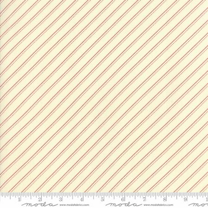 Farmhouse Reds - Stripe (Ivory/Red) - 1/2 meter