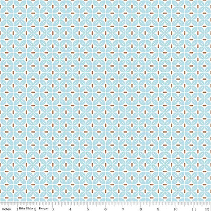 Sew Cherry 2 Aqua #C5806 - 1/2 meter