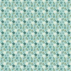Cherished Moments - New Blooming Buds Teal - 1/2 meter