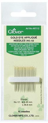 Gold Eye Applique Needles No. 12