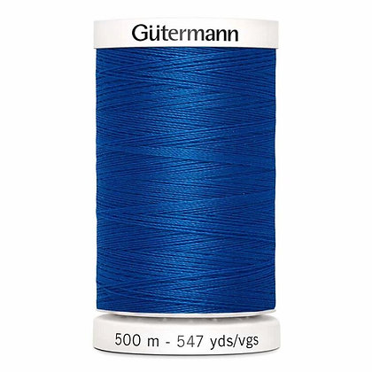 Gutermann 100% Polyester Thread - 500m - Electric Blue