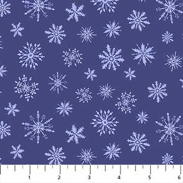 Cozy Up - Snowflakes Navy - 1/2 meter