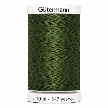 Gutermann 100% Polyester Thread - 500m - Olive