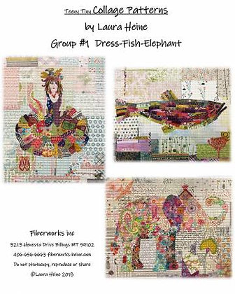 Teeny Tiny Dress-Fish-Elephant Collage Pattern