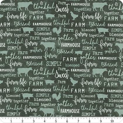 Farm Sweet Farm - Teal Chalkboard (Bolt #2) - 1/2 meter