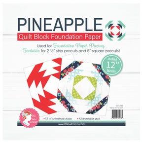 "Pineapple Quilt Block Foundation Paper - 12"""