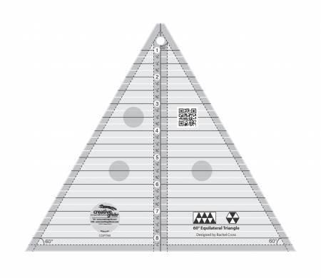 "60 Degree Triangle Ruler - 8"""