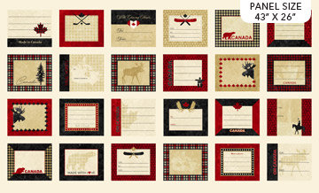 Oh Canada Quilt Labels Panel