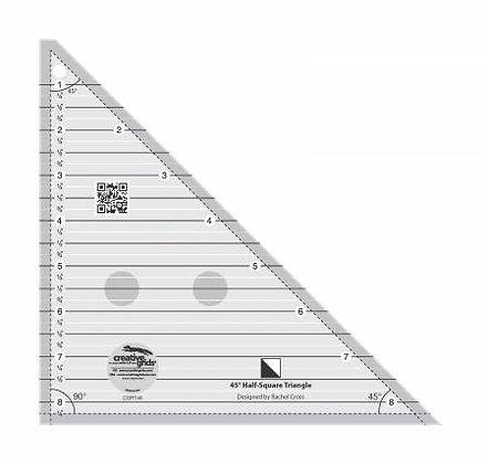 45 Degree Half-Square Triangle Ruler - Creative Grids