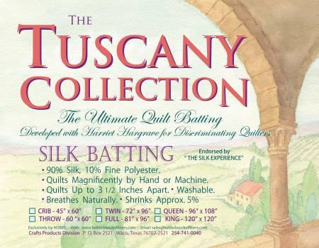 "Tuscany Silk Batting - Twin - 72"" x 96"""