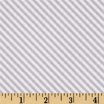 Sweet Orchard Stripe Taupey Gray #C5485 - 1/2 meter