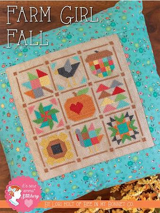 Farm Girl Fall Cross Stitch Pattern