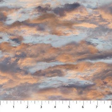 Maverick - Clouds Blue Multi - 1/2 meter