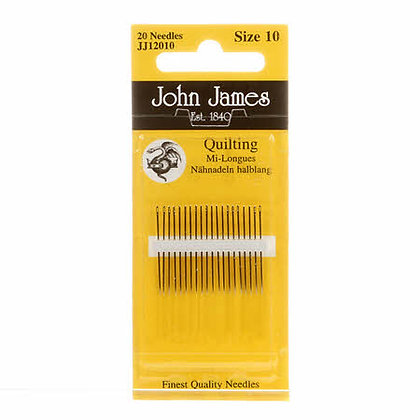 John James Quilting Needles - Size 10