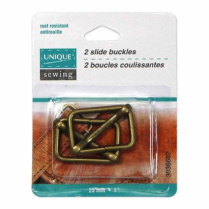 Slide Buckle - Antique Gold - 25mm