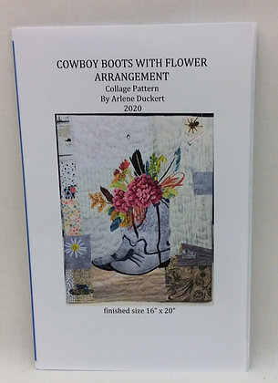 Cowboy Boots With Flower Arrangement