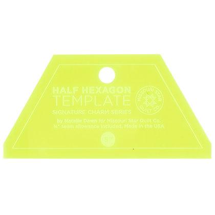 "Half Hexagon Small Template - 5"""