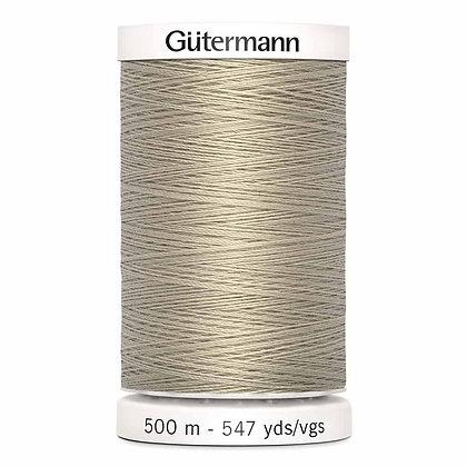 Gutermann 100% Polyester Thread - 500m - Sand