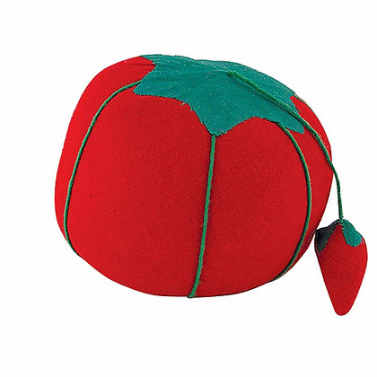 Tomato Pin Cushion with Strawberry Emery