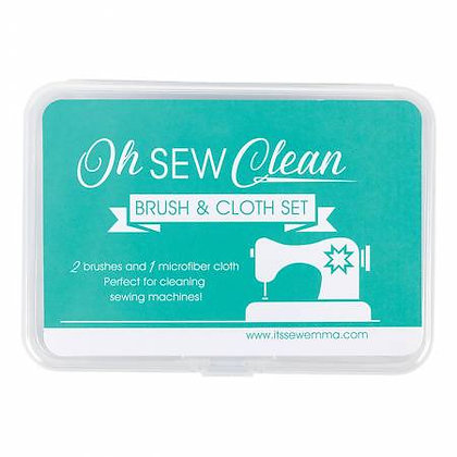 Oh Sew Clean Brush & Cloth Set - Assorted Colours