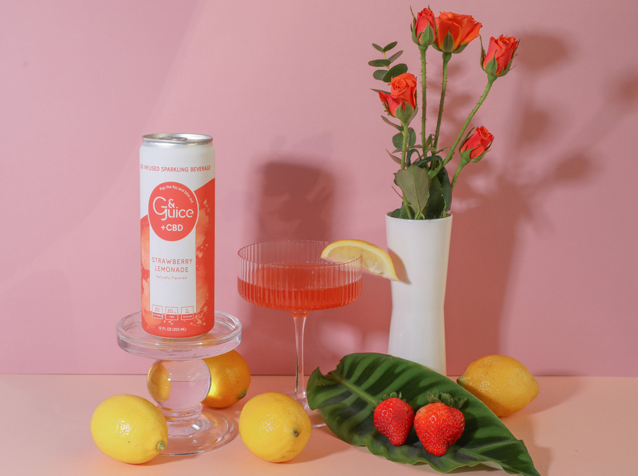 Packaging design for Strawberry Lemonadeflavour