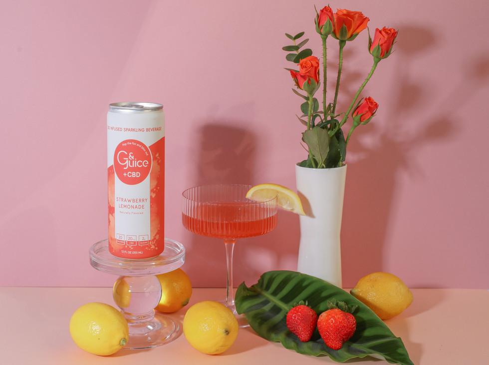 Packaging design for Strawberry Lemonadeflavour