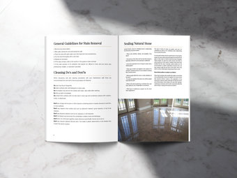 A Guide to the Care & Cleaning of Natural Stone