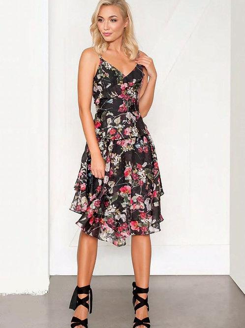 Very Very V Neck Ruffle Dress